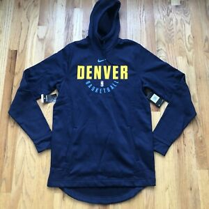 NWT Men's Nike Denver Nuggets Team Issued NBA Warm Up Hoodie Sweatshirt Sz L TT