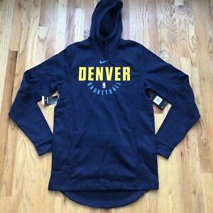 NWT Men's Nike Denver Nuggets Team Issued NBA Warm Up Hoodie Sweatshirt Sz L TT