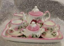 Vintage P.S. English Fine Bone China Child's Mini Tea Set Rose Pattern