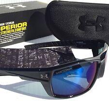 NEW* Under Armour RANGER Black w Blue POLARIZED Storm Lens Sunglass! $160