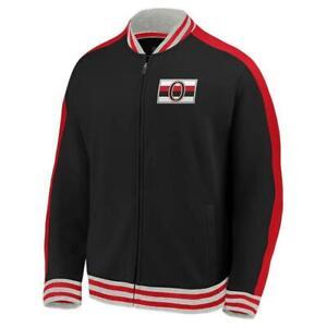 NEW Fanatics NHL Licensed Men Ottawa Senators Varsity Track Jacket Sz MEDIUM