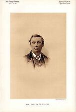 SIR JOSEPH CHITTY - OXFORD STROKE, LIBERAL MP & JUDGE -  SEPIA PORTRAIT (1880)