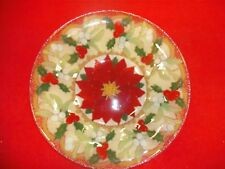 Peggy Karr Poinsettia Bowl, 8.5 inch