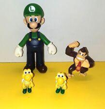 Nintendo Super Mario Figures Lot  2007-2009 Luigi Koopa Troopa Donkey Kong Lot