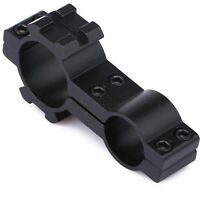 Dual Ring Flashlight Scope Barrel Tube Mount 25.4mm/19mm w/ 20mm  Dual Side Rail
