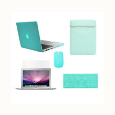 "5in1 Crystal TIFANY BLUE  Case for Macbook PRO 13""+Keyboard Cover+LCD+Bag +Mouse"