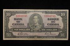 1937 Canada. ($10) Ten Dollars. Series S/D. Gordon-Towers.