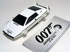 """007 JAMES BOND CAR """"Lotus ESPRIT Underwater White"""" Pullback Diecast Miniature"""