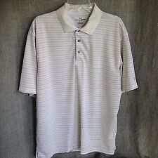 Grand Slam Golf Mens XL Horizontal Striped Polo Shirt