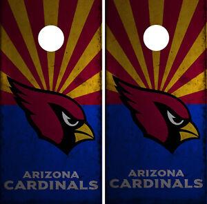 Arizona Cardinals Cornhole Wrap NFL Skin Board Game Set Vinyl Decal Sticker CO01