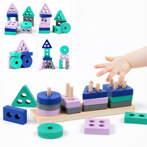 Wooden Building Children Learning Educational Kids Puzzle Toys Montessori Toy