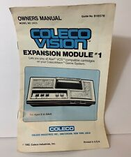Vintage ColecoVision Expansion Module #1 Owners Manual Model 2405 Guide 91657B
