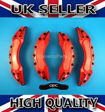 UNIVERSAL BRAKE CALIPER COVERS SET KIT FRONT & REAR RED ABS 4PCS - OPC