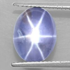 6.10 Cts Natural Lustrous Sharp 6 Rays Unheated Blue Star Sapphire Oval Cabochon
