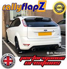 rallyflapZ FORD FOCUS ST225 04-11 Mud Flaps & Fixings Black 4mm PVC Logo White