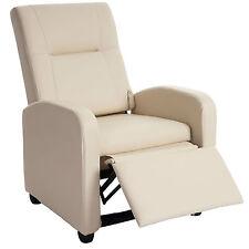 Fernsehsessel Dallas Basic, Relaxsessel Relaxliege Sessel, Kunstleder creme