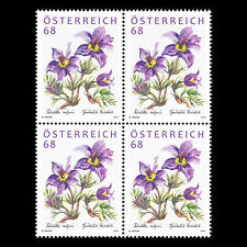 Austria 2015 - Flora Flowers Block of 4 - MNH