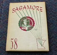 Roosevelt High School Minneapolis MN Yearbook Annual 1958 SAGAMORE Genealogy