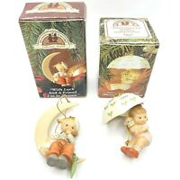 Enesco Memories Of Yesterday Christmas Tree Hanging Ornaments Lot Of 2