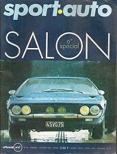 SPORT AUTO 93 1969 SALON DE L'AUTO LAMBORGHINI ESPADA GP ITALIE COUPE DES ALPES