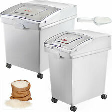 More details for 40l + 25l ingredient storage bin rice flour bin with wheels 8.8 / 5.5 gallons