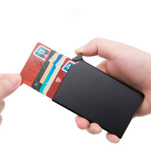 Card Holder Wallet RFID Metal Credit Card ID Pocket Slim fit Updated Model
