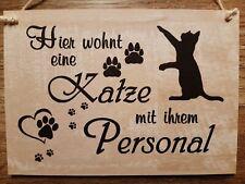 """Dekoschild Holzschild /""""Mein Hund/"""" Motiv creme beige meliert handgemacht"""