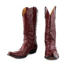 Old Gringo Burgundy Wine Leather Cowboy Biker Boots sz 9.5 / 39.5