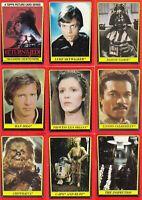 STAR WARS RETURN OF THE JEDI SERIES 1 1983 TOPPS BASE & STICKER CARD SET 132/66