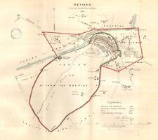 DEVIZES town/borough plan REFORM ACT. Caen Hill Locks Wiltshire. DAWSON 1832 map
