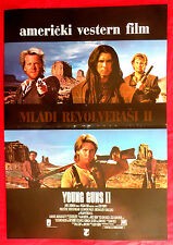 YOUNG GUNS II 1990 ESTEVEZ SUTHERLAND DIAMOND BON JOVI RARE EXYU MOVIE POSTER
