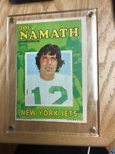 1971 Topps Football Joe Namath Pin Up Poster & Big Card