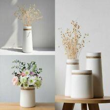 Modern Ceramic Matte Flower Vase Hemp Rope Centerpiece Craft Home Decoration New