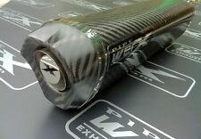 Triumph TT 600 2000 2001-2003 Carbon Tri Oval Carbon Outlet Exhaust Can Silencer