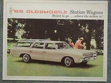 1965 OLDSMOBILE STATION WAGONS BROCHURE – STYLED TO GO WHERE THE ACTION IS – F85