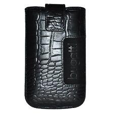 Bugatti Taasche SlimeCase 07763 Leder Croco Gr. SL, schwarz, (81x134mm), Case