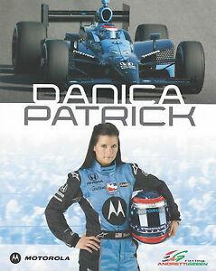 "2009 INDY 500 DANICA PATRICK  ANDRETTI AUTOSPORT INDYCAR 8""X10"" HERO CARD !"