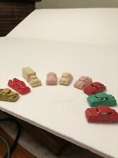vintage cars & small trucks  plastic 1950's Lot Of 9