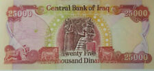 "Iraq 25000 Dinars Banknote ""Twenty-Five-Thousand"" Iraqi Dinar Note"