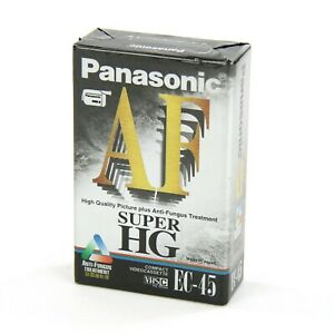 NEW Panasonic Super HG High Grade EC-45 VHSC Compact Video Cassette Anti Fungus