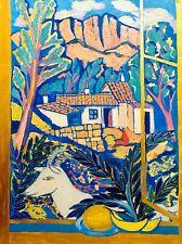 painting art Malysheva decor window goat landscape melon IMPRESSIONISM mountains