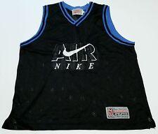 Vintage 1980s 90s Air Nike Swoosh Gray Label Made in USA Men's Medium Jersey