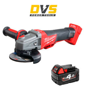 Milwaukee M18CAG115XPDB-0 M18 Fuel Brushless Angle Grinder with 1x 4Ah Battery