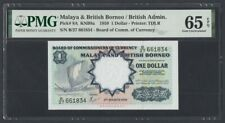 Malaya & British Borneo 1 Dollar 1959 UNC (Pick 8A) PMG-65 EPQ (B/27)