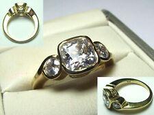 * STUNNING RING * Swarovski Zirconia / 925 Silver with 14CT GOLD Overlay *