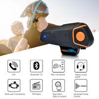 Fodsports 3 Riders Motorcycle Intercom Bluetooth BT Helmet Interphone Headset FM