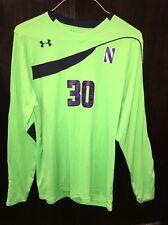 Northwestern Wildcats Game Worn Soccer Goalie Jersey UA HeatgeGear #30 Lg