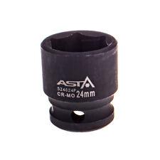 "524624P 24mm 1/2"" Dr Short Impact Socket 6 Point (6PT) Heavy Duty 38mm Length"
