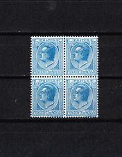 MONACO   éffigie  1f50  bleu sur azuré   de 1924/33   num: 99 ** en bloc de 4