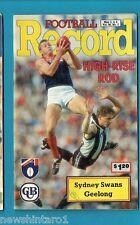 #NN. AUSTRALIAN RULES FOOTBALL RECORD, SYDNEY SWANS V GEELONG  3-5/5/1991